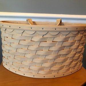 Longaberger Large Scalloped Wall Pocket Basket